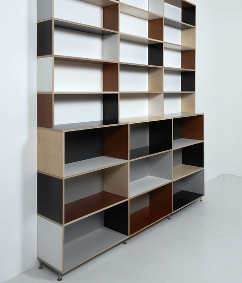 Tius 09 colourful by Plan W | Office shelving systems