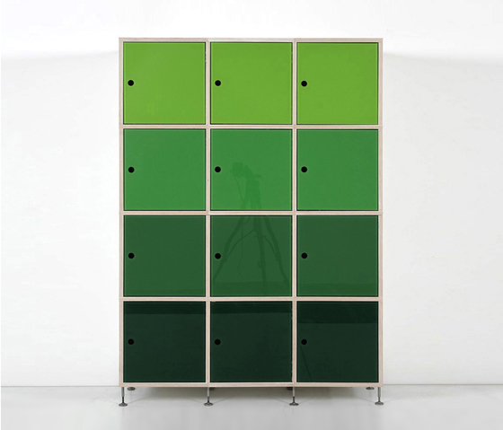 Tius 10 bucaneve glass doors by Plan W | Office shelving systems