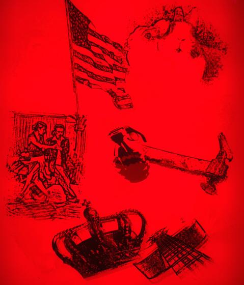 RGB red - light de Conglomerate | Verre décoratif