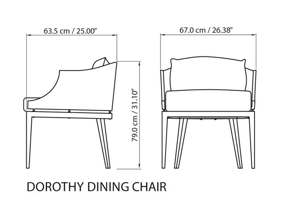 Dorothy Dining chair von steve & james | Restaurantstühle