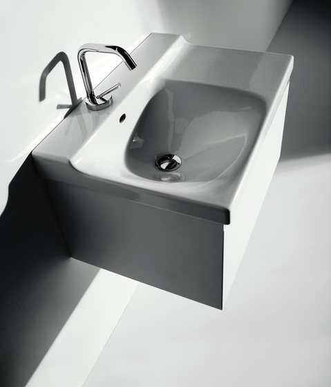 Buddy Washbasin 60 + wall-mounted cabinet 60 by Kerasan | Vanity units