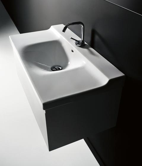 Buddy Lavabo 80 + mobile sospeso 80 di Kerasan | Mobili lavabo