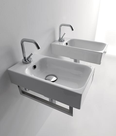 Cento Washbasin + towel holder by Kerasan | Vanity units