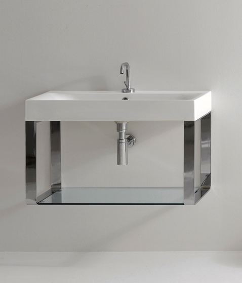 Cento Washbasin + wall hung unit by Kerasan | Vanity units