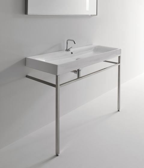 Cento Washbasin + free standing unit by Kerasan | Vanity units