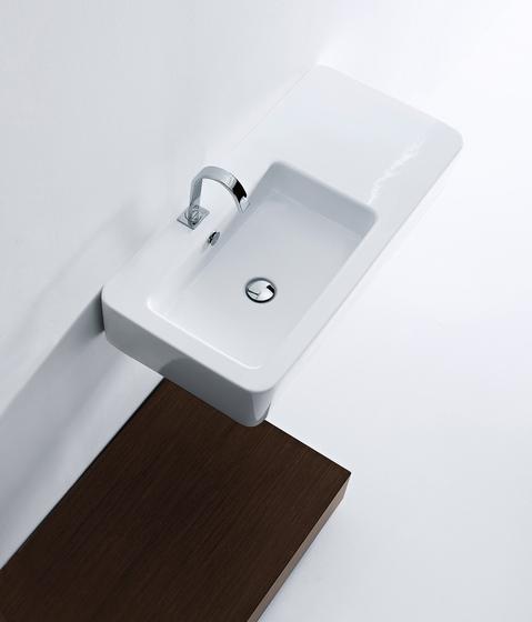 Ego Washbasin 90 asymmetric sink by Kerasan | Wash basins