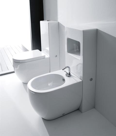 Flo Btw wc pan + bidet 52 by Kerasan | Toilets