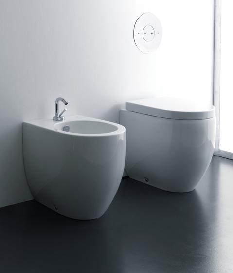 Flo Btw wc pan + bidet 48 cm by Kerasan | Toilets