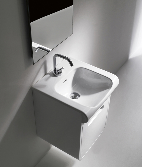 Inka Washbasin 40 + wall-mounted cabinet 40 by Kerasan | Vanity units