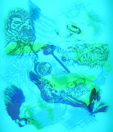 RGB light blue - light de Conglomerate | Verre décoratif