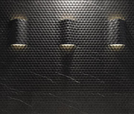 Le Pietre Incise | Favo curve luce de Lithos Design | Natural stone slabs