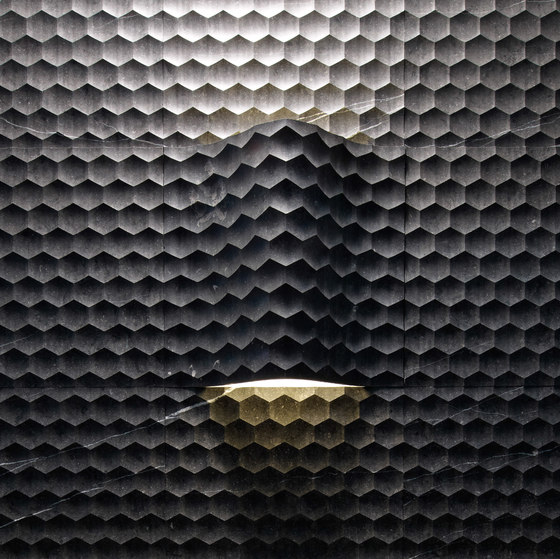 Complementi Luce   Favo curve luce by Lithos Design   Natural stone panels