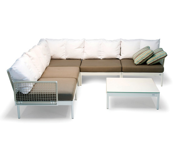 Lodge lounge system by Fischer Möbel | Garden sofas