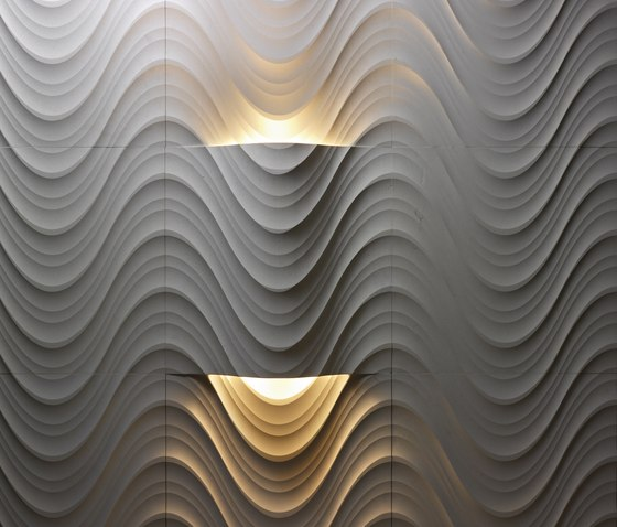 Le Pietre Incise | Seta curve luce by Lithos Design | Natural stone panels