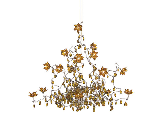 Jewel Chandelier suspension 15-amber de HARCO LOOR | Éclairage général