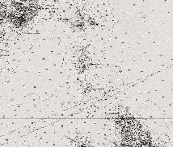 Losting map di Wall&decò | Carta da parati