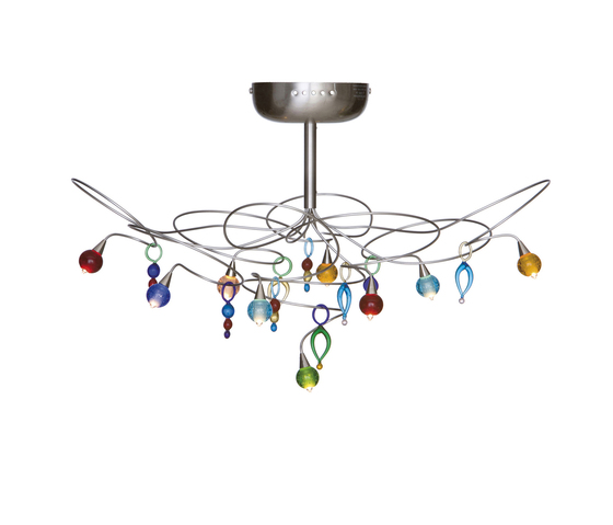 Strawberry ceiling light 9-multicolor by HARCO LOOR | General lighting