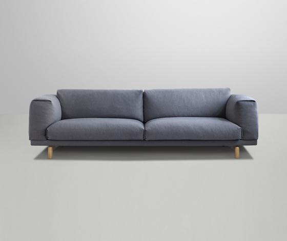 rest sofa von muuto 3 seater 2 seater rest pouf. Black Bedroom Furniture Sets. Home Design Ideas