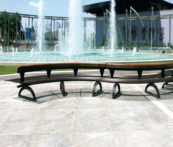 Libre Double Settore by Metalco | Exterior benches