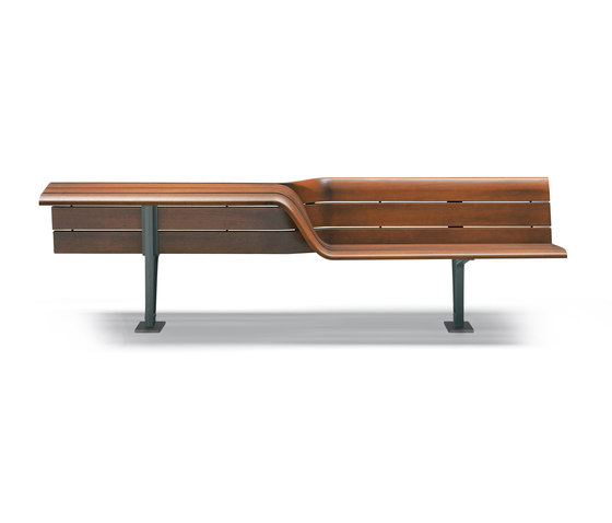 Sedis Torsion by Metalco | Exterior benches