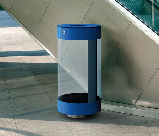 Spencer Clear by Metalco | Exterior bins