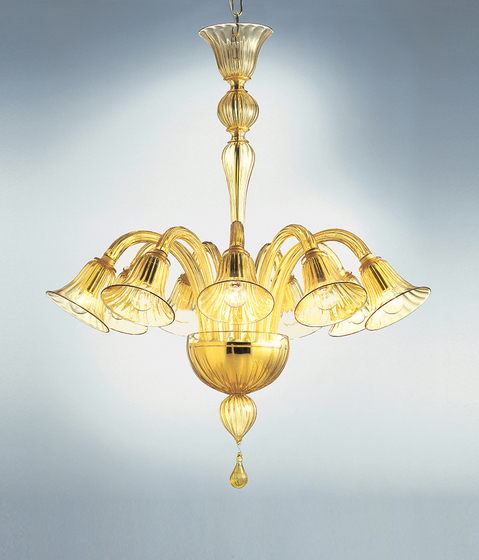 Ca' Balbi - 9 lights chandelier by A.V. Mazzega | Ceiling suspended chandeliers