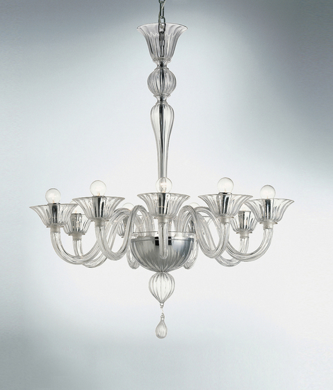 Ca' Donà - 9 lights chandelier by A.V. Mazzega | Ceiling suspended chandeliers