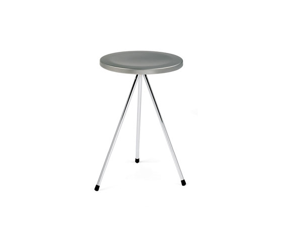 Nuta | chromed stool 45 by Mobles 114 | Ottomans