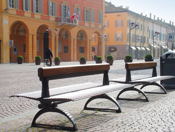 Libre Double by Metalco | Exterior benches