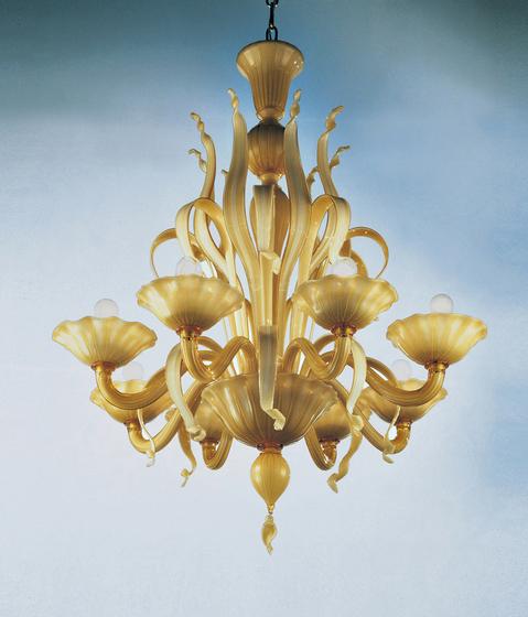 Loto - chandelier - 8 lights de A.V. Mazzega | Lámparas de techo