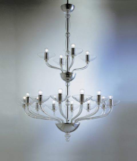 Ninfea - chandelier - 16 lights by A.V. Mazzega | Ceiling suspended chandeliers