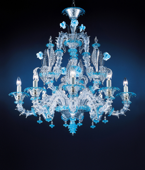 Rezzonico - chandelier - 9 lights by A.V. Mazzega | Ceiling suspended chandeliers
