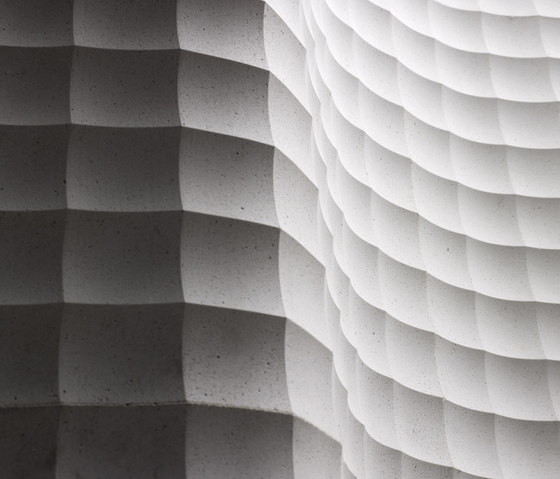 Quadro curve by Lithos Design | Natural stone panels