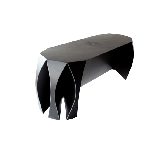NOOK bench black by VIAL | Garden benches