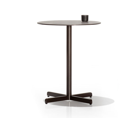 Sit central leg tables by Bivaq | Bistro tables