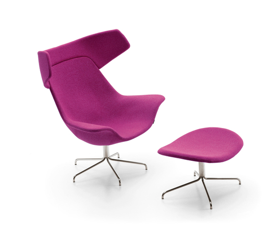 Oyster easy chair/footstool de OFFECCT | Fauteuils d'attente