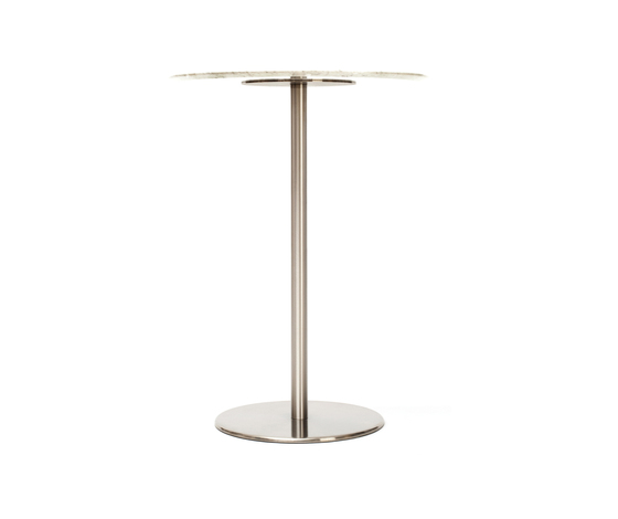 Odette Bar Table Round Marble de Massproductions | Mesas altas
