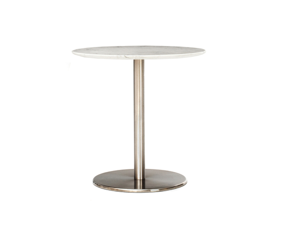 Odette Café Table Round Marble by Massproductions | Cafeteria tables