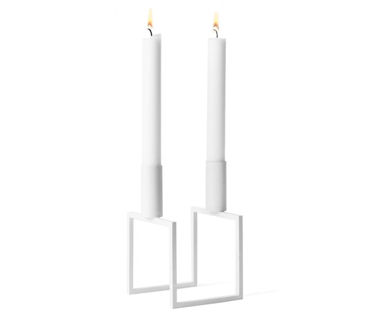 Line White by by Lassen | Candlesticks / Candleholder