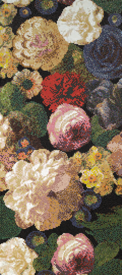 Bouquet A mosaic by Bisazza | Glass mosaics