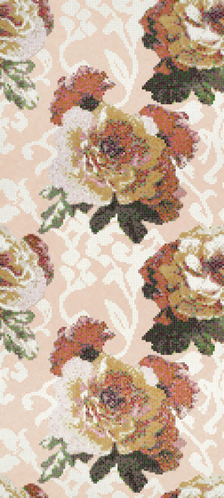 Fleurs Rosa mosaic by Bisazza | Glass mosaics