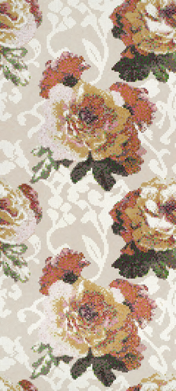 Fleurs Grigio mosaic de Bisazza | Mosaicos de vidrio