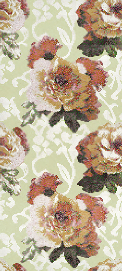 Fleurs Verde mosaic von Bisazza | Glas Mosaike