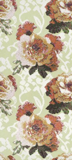 Fleurs Verde mosaic by Bisazza | Glass mosaics
