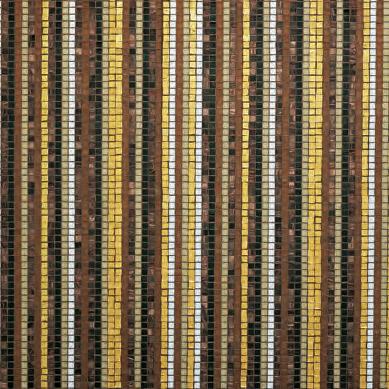 Stripes Fall mosaic by Bisazza   Glass mosaics