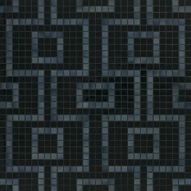 Labirinto Nero mosaic by Bisazza | Glass mosaics