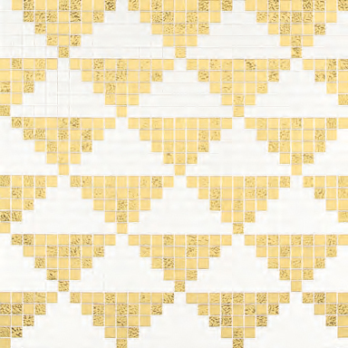 Giza Oro Giallo mosaic by Bisazza | Glass mosaics