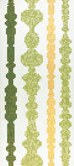 Columns Green B mosaic by Bisazza | Glass mosaics