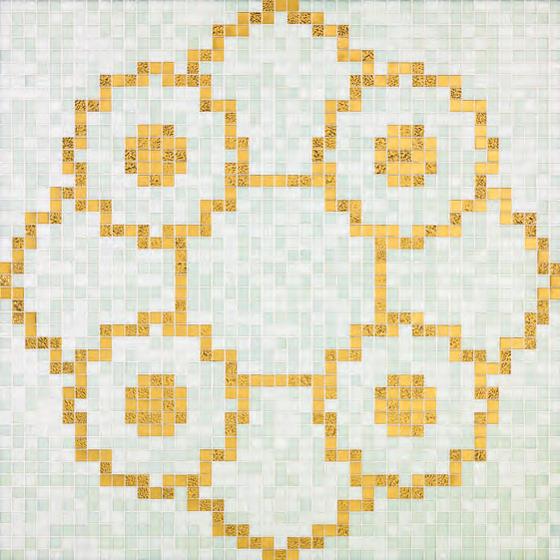 Linear De Rosas Blanco mosaic by Bisazza | Glass mosaics