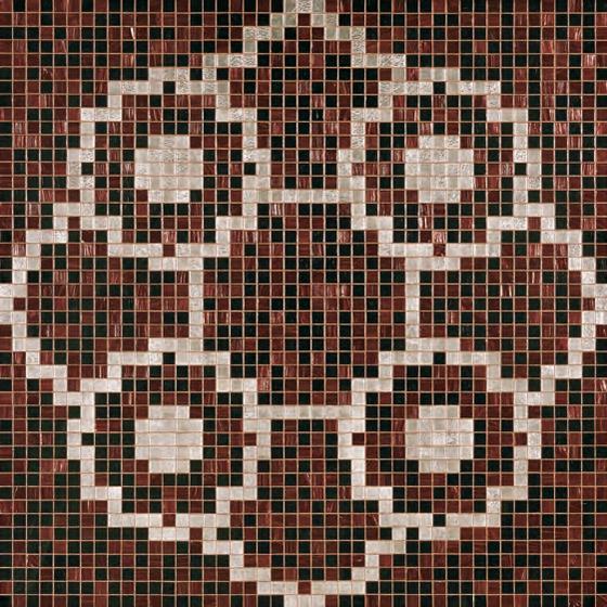 Linear De Rosas Marron mosaic by Bisazza | Glass mosaics